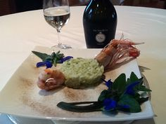 Risotto with Prosecco, Green Asparagus and King Prawn.