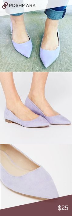 ASOS LOST Pointed Ballet Flats NWOT - Never got to wear them Very cute light purple color  US Size 6 Asos Shoes Flats & Loafers