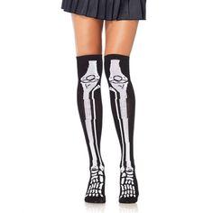 Leg Avenue. Long knee socks with bone print.