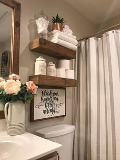 27 Popular Small Farmhouse Bathroom Decor Ideas And Remodel. If you are looking for Small Farmhouse Bathroom Decor Ideas And Remodel, You come to the right place. Below are the Small Farmhouse Bathro. Vinyl Decor, Wall Decor, Bathroom Humor, Diy Home Decor, Cute Bathroom Ideas, Vintage Bathroom Decor, Bathroom Designs, Half Bathroom Decor, Bathroom Lighting