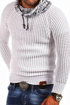 Tazzio - Pullover lavorato a maglia collo alto