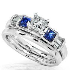 blue sapphire diamond wedding ring