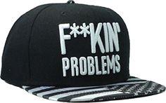 Letter Fuckin Problems Black Snapback Cap Hat for Men and Women Baseball Cap Cool Kings http://www.amazon.com/dp/B00H3D02S2/ref=cm_sw_r_pi_dp_MvQ5tb1V8MDZC