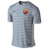 AS Roma Squad Short Sleeve Training Top Grey
