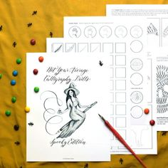 Free Brush Pen Calligraphy Worksheet: Neat Slant Edition – The Postman's Knock Calligraphy Worksheet, Brush Pen Calligraphy, Calligraphy Practice, Modern Calligraphy, Postman's Knock, Calligraphy For Beginners, Guided Practice, Dip Pen, Halloween Season