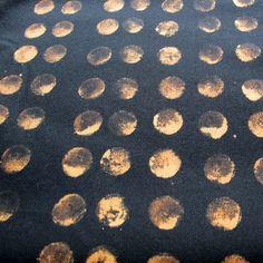 Wine cork dipped in bleach discharge--Jennifer Coyne Qudeen: December 2011