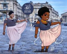 You may call them plus size, curvy, chubby, fat or simply women. :) They are real women who commissioned exclusive illustrations. Fat Black Girls, Black Girl Art, Black Women Art, Art Girl, Portrait Cartoon, Vector Portrait, Plus Size Art, Plus Size Girls, Black Art Pictures