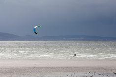 Amazing kiteboarding day at Longniddry Beach, Scotland #kitesurfing #kiteboarding #Scotland