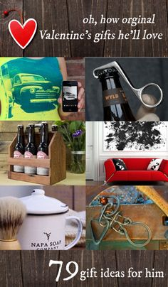 79 Valentine's Day Gifts for Him http://www.thegrommet.com/collections/valentines-gifts-for-him
