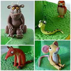 The Gruffalo for my friend's little boy Gruffalo Party, The Gruffalo, 4th Birthday Cakes, Birthday Ideas, Twin First Birthday, Cake Topper Tutorial, Fondant Toppers, Sugar Craft, Fondant Figures