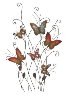 Beautiful Colored Metal Butterfly Resting on Plants Wall Decor Benzara http://smile.amazon.com/dp/B002PI1M16/ref=cm_sw_r_pi_dp_nQ-Fub0X38XH9