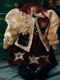 "Primitive Lucinda Annie Raggedy 16""  - Meme's Quilts Pattern"