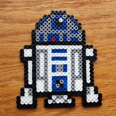 R2D2 Star Wars perler beads by  kimmcgab