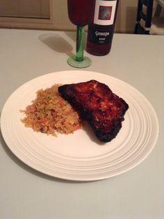 Marinated pork ribs and homemade fried rice