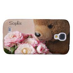 teddy bear smells the roses HTC Vivid case