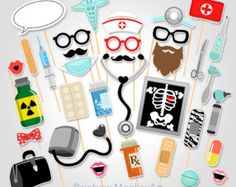 Puntelli di infermiera Photo Booth. Puntelli di PiccadillyPartyCo