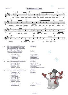 """""""Schneemann-Tanz"""" (Krippen-Version) - ein Kreistanz mit viel Bewegung - ideal auch zum Fasching - mp3 und Video mit Choreografie auf: www.kitakiste.jimdo.com"""