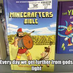 Minecraft Bible  #christian #memes #christianmeme