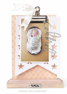 Adorable baby clipboard by Heidi Swapp here: #ClippedOnIssuu from Make Pretty Stuff Volume 1 Issue 2