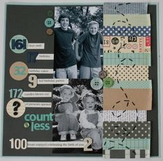 """Countless"" scrapbook layout by Wendy Smedley for Big Picture Classes, as seen on Club CK, a free scrapbooking community from Creating Keepsakes magazine. #scrapbook #scrapbooking"