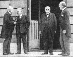 Lloyd-George, Orlando, Clemenceau, and Wilson.