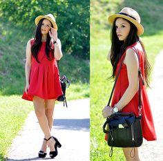 Alba . - 6ks Dress, Persunmall Bag, Infinitine Bracelets - ...Red Dress!...