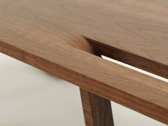 ••Clean lines, Ricco table detail, by Data Furniture
