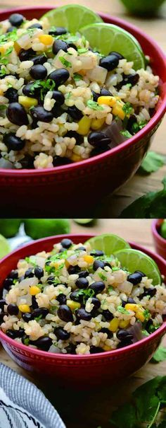 30 MINUTE BLACK BEANS AND LIME RICE - black bean, corn, garlic, healthy, paprika, recipes, rice