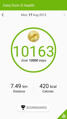 I have walked 10163 steps today.