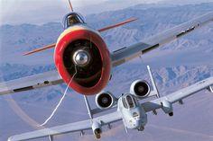..._A-10 Flight Following P-47 Thunderbolt.