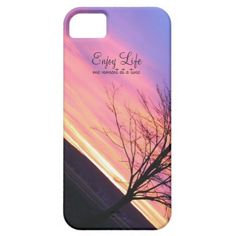 Pretty phone case - enjoy life