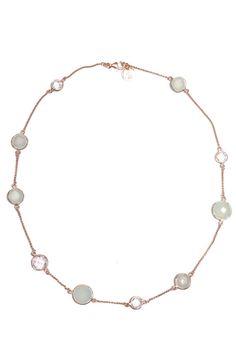 #GirlsDreams | Zarte #Halskette mit transparenten Bergkristallen | Girls Dreams | mymint-shop.com | Ihr Online Shop für #Secondhand / Vintage #Designerkleidung & Accessoires bis zu -90% vom Neupreis das ganze Jahr #mymint