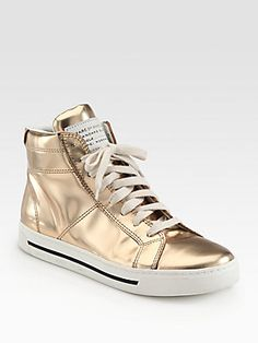Marc by Marc Jacobs Mirror Leather High Top Sneakers