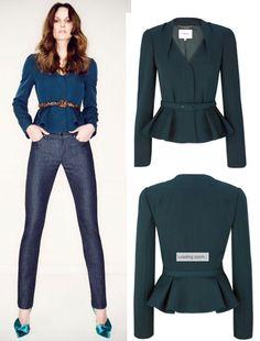 The Duchess wore LK Bennett's Davina dress and Jude jacket, both in dark teal.