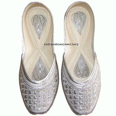 women shoes indian shoes khussa shoes flat by indianshoesjewellery, $35.00
