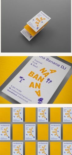 Graphic identity for Ana Banana. In her live sessions she includes tropical, funk and soul music. You can find her artistic name with the shape of the banana fruit. Banana Fruit, Collateral Design, Ppt Design, Soul Music, Brand Identity, Dj, Culture, Change, Logos