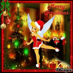 Tinkerbell And Friends, Tinkerbell Disney, Peter Pan And Tinkerbell, Disney Fairies, Merry Christmas Pictures, Merry Christmas Quotes, Christmas Greetings, Tinkerbell Wallpaper, Fairy Wallpaper