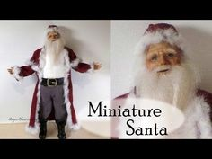 Polymer Clay Tutorial; Santa Claus - Christmas Miniature Doll - YouTube