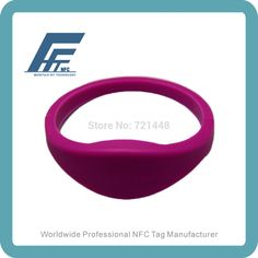 65.32$  Buy here - http://alie0v.shopchina.info/go.php?t=32327960720 - 100pcs  NTAG213 Purple  Silicone Wristband  NFC Silicone Wristband Tag  Dia65mm Fits Female adults 65.32$ #aliexpress