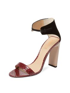 105mm Atlas Snakeskin Sandal from Summer Trend: Block-Heel Sandals on Gilt