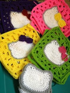 Hello Kitty squares in progress...  - OMG I must make this