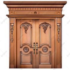 House Main Door Design, Wooden Front Door Design, Double Door Design, Door Gate Design, Wooden Front Doors, House Front Door, Entrance Design, Class Door, High Class
