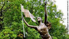 Statue de Jeanne d'Arc à Notre-Dame de Bermont, Greux. Lorraine