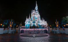 Download wallpapers Fairy-tale castle, Disneyland, Paris, evening, Walt Disney, France
