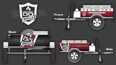 Our three 55 Mobile Grill models will be soon revealed to the public! Until then, here are a few mock ups of what it will look like. We do custom wraps and colors!