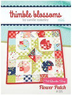 Flower Patch Mini Quilt Pattern<BR>Thimble Blossoms