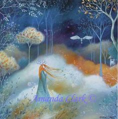 Earth Angels Art. Art and Illustrations by Amanda Clark: New Giclee prints of fairytales and folklore