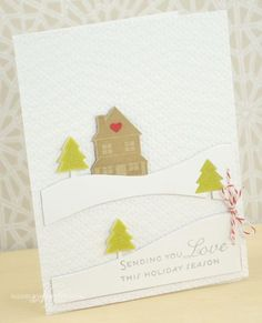 Sending You Love Card by Nichole Heady for Papertrey Ink (September 2013)