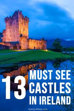 The Best Castles To Visit In Ireland MUST SEE Irish Castles) - - Want to see castles on your next Irish vacation? This list has the absolute best castles to visit in Ireland to take a trip back in time! Ireland Travel Guide, Dublin Travel, Europe Travel Guide, Travel Tips, Travel Goals, Travel Essentials, Places To Travel, Travel Destinations, Castles To Visit
