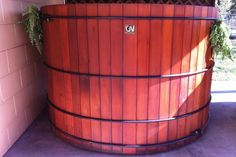Retro Redwood Great Northern Hot Tub Western Red Cedar, Hot Tubs, Outdoor Spaces, Retro, Home, Outdoor Living Spaces, Spa Baths, Ad Home, Homes